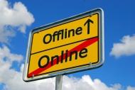 Online-Offline-Schild
