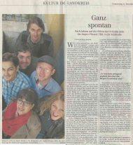 Artikel in der Erdinger SZ vom 21. 11. 2013
