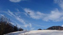 Auch aus der Luft wird gefilmt