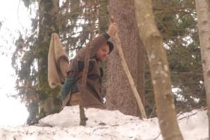 Raphael Senger in steilem Gelände